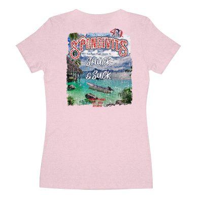 Back of Spondivits Women's 40th Birthday T-Shirt in Lavender