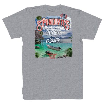 Spondivits 40th Anniversary - Shuck & Suck Men's T-Shirt - Gray